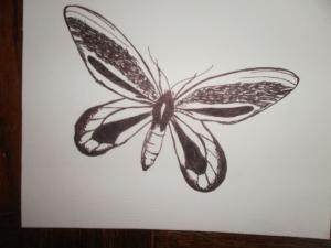 papillon à l'encre